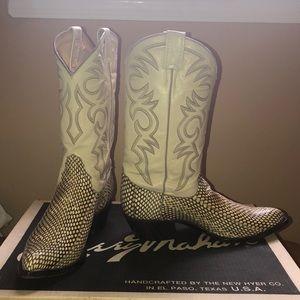 Real Cobra Snake Skin Boots
